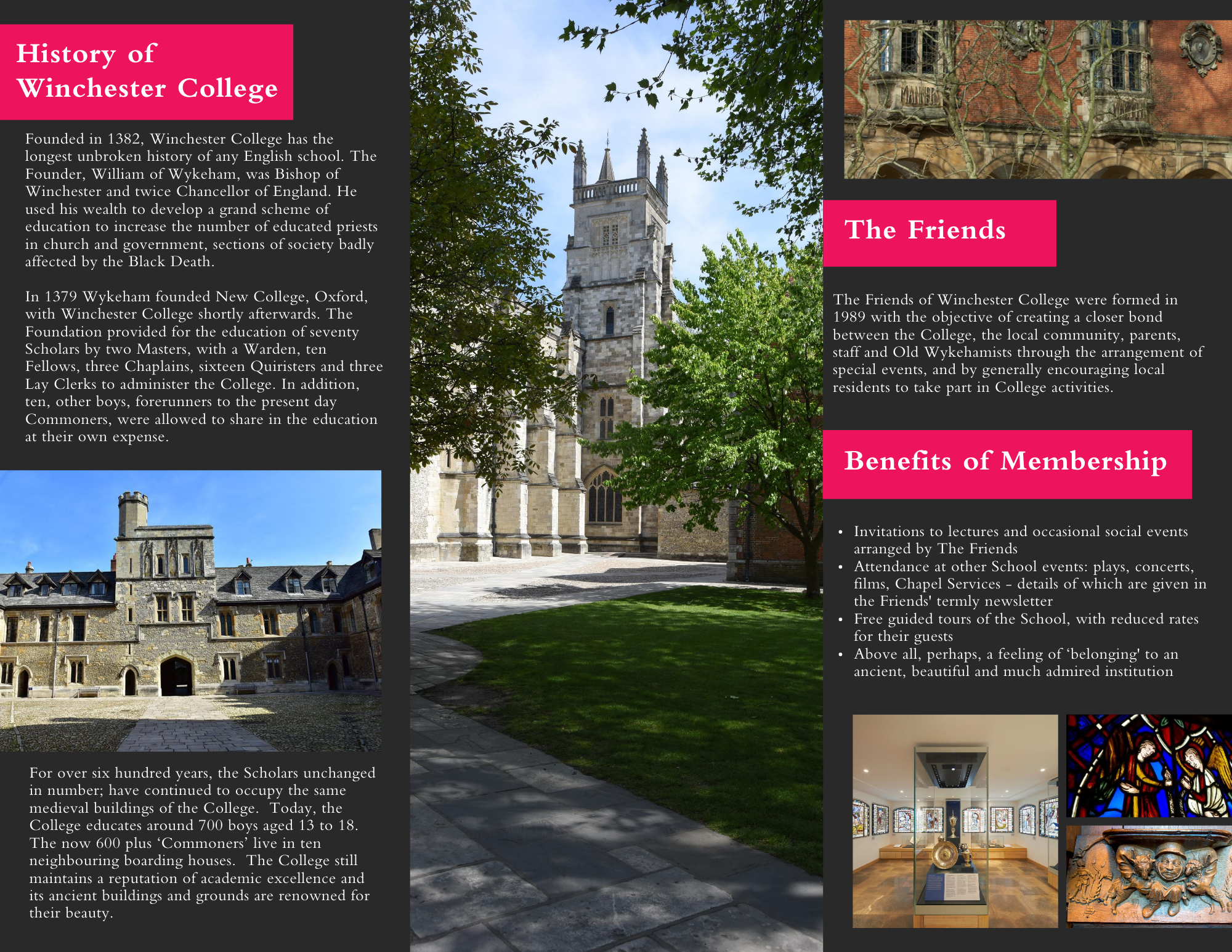Friends of Winchester College Leaflet