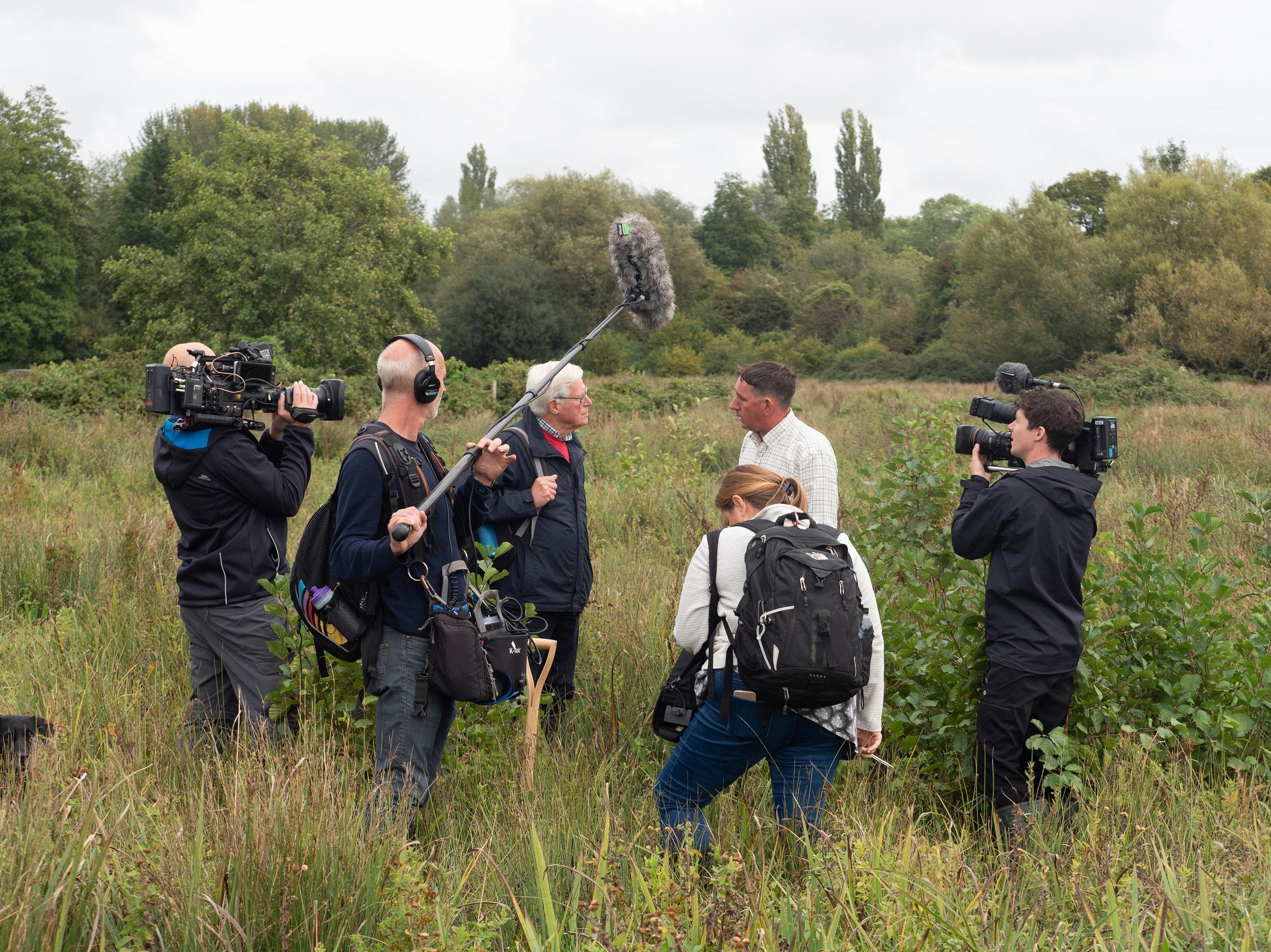 Countryfile team with Mark Sankey River Keeper